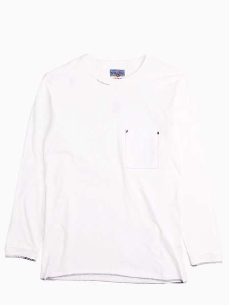 """Blue Blue Japan Middle Weight Cotton """"Favourite"""" Repaired LS Tee"""
