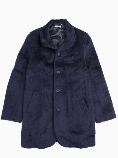 Blue Blue Japan Pile Fur Knit 4-Button Coat