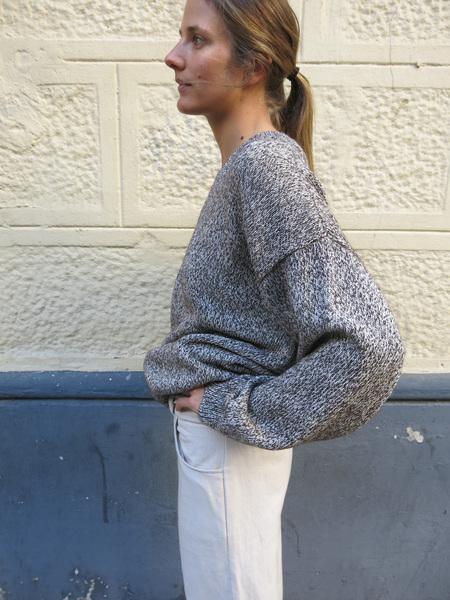 Baserange  Knit pullover Marble brown