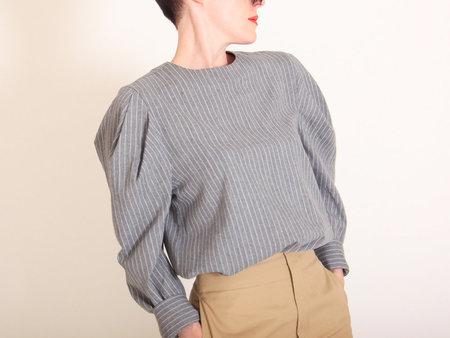 Kurt Lyle Pernilla Blouse - Grey Stripe