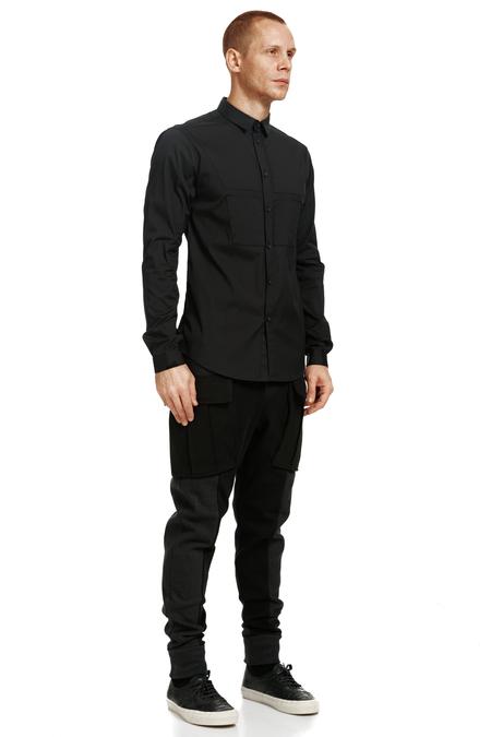 Nous Sommes D'ailleurs Black Cotton Shirt