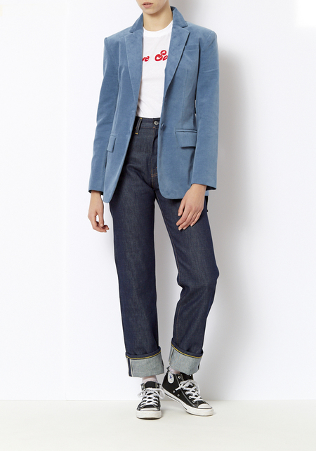 Tibi Moleskin Oversized Blazer