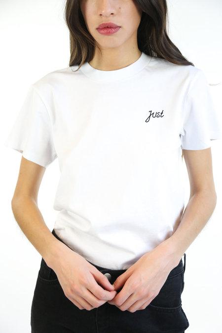 Just Female Logo Tee - White