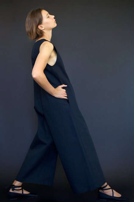 Town Clothes Big Mac Jumpsuit in Black