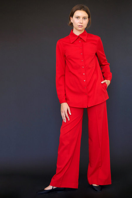 Town Clothes Angela Work Shirt in Red