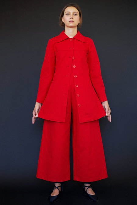 Town Clothes Roberta Coat in Red