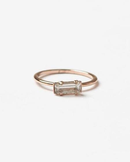 Bing Bang NYC Tiny Baguette Ring Rose Gold