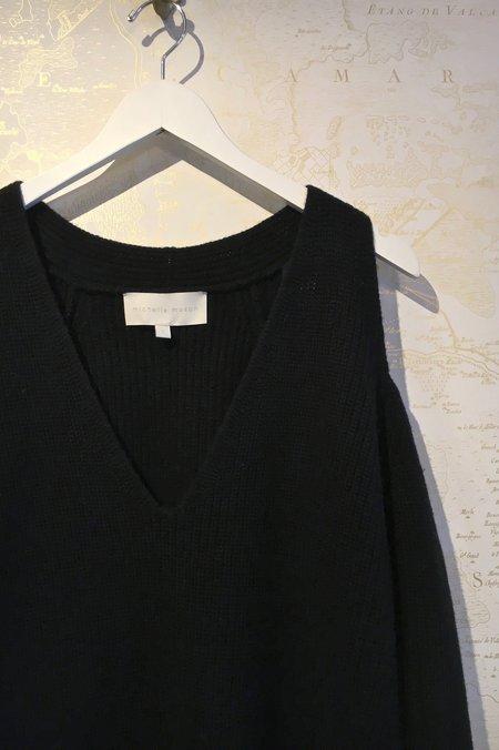 Michelle Mason Drop Sleeve Sweater Dress - Black