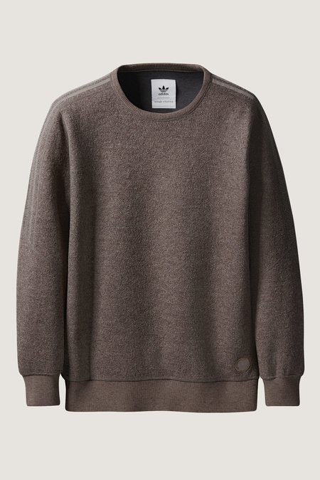 Adidas X Wings + Horns Bonded Wool Crewneck - Simple Brown