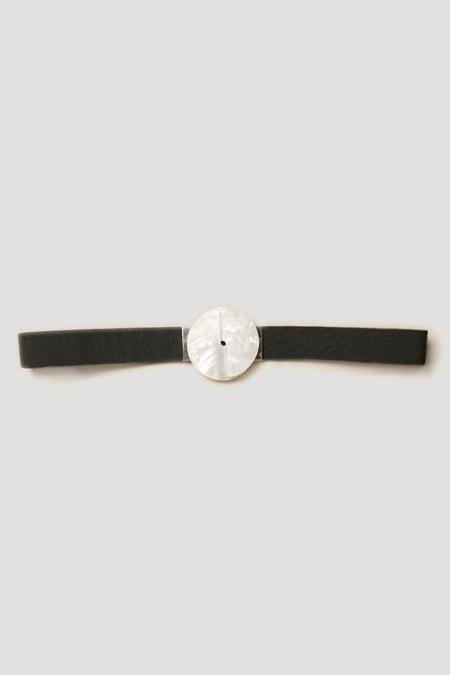 Rachel Comey Faze Belt in Pearl-Black
