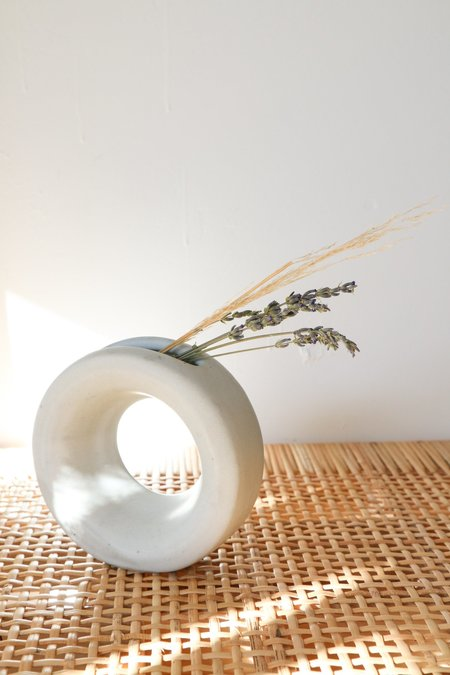 Lucy Michel Small Loop Vase in White