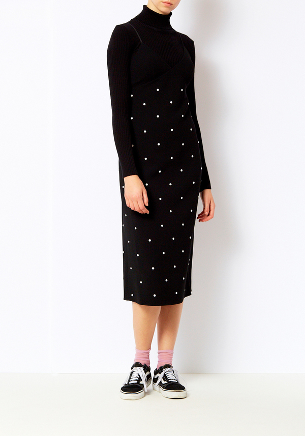 Tibi Neve Beading Cami Dress