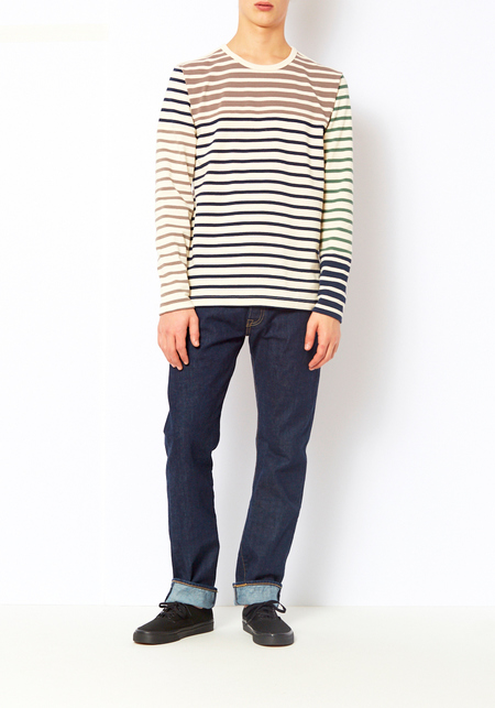 YMC Artisan Breton Striped Shirt