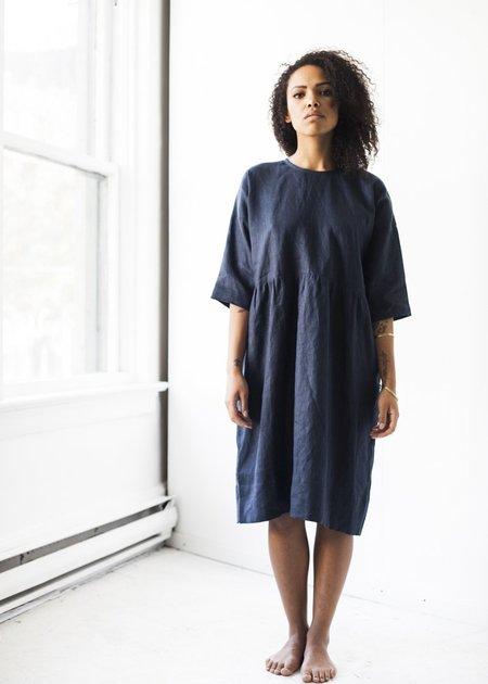 Korinne Vader Handmade Everyday Dress in Navy