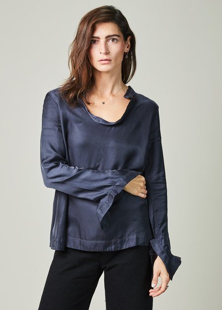 Hannes Roether Mishy Open Neck Blouse