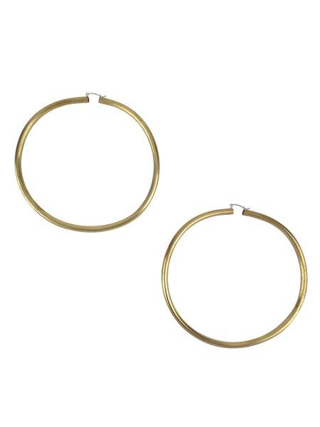 In God We Trust Rollo Hoop Earrings - Brass