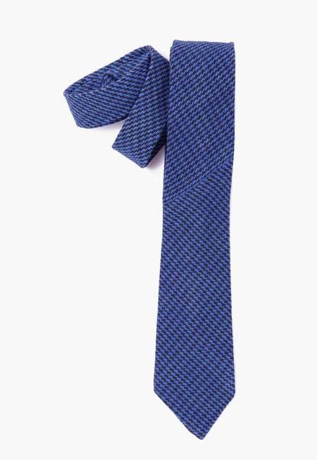 Deshal Indigo Houndstooth Necktie