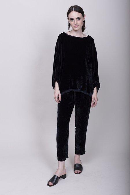 Raquel Allegra Velvet Drawstring Pants - Midnight