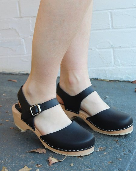 Lotta from Stockholm Low Wood Black Clogs