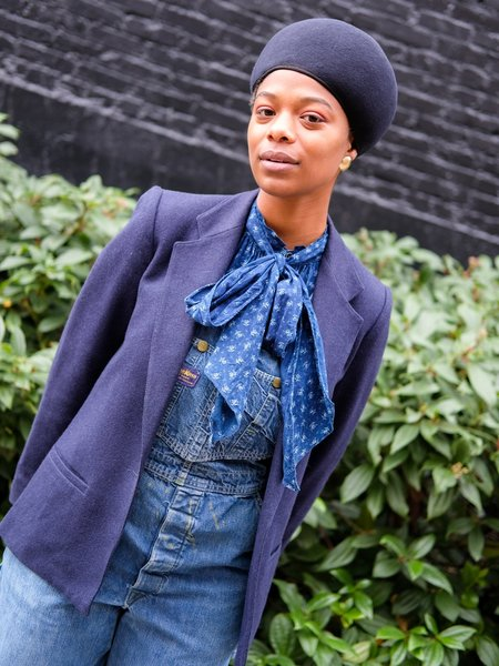Shop Boswell Vintage Navy Wool Blazer