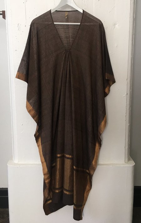 Two Brown Caftan with Metallic Front
