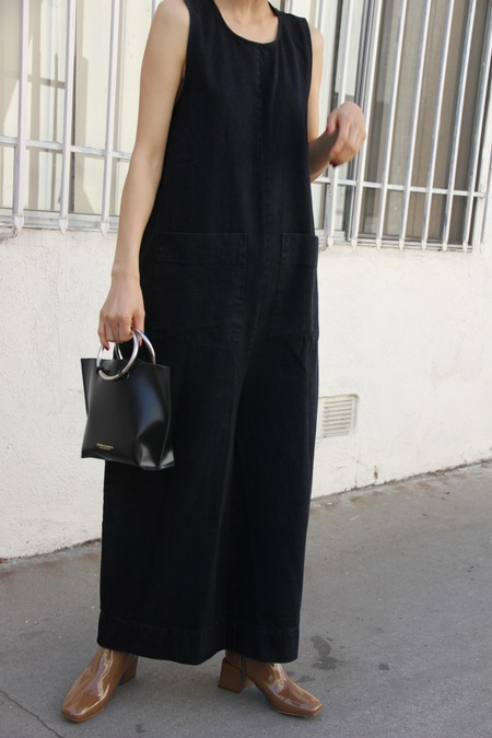 ILANA KOHN HARRY JUMPSUIT - BLACK DENIM