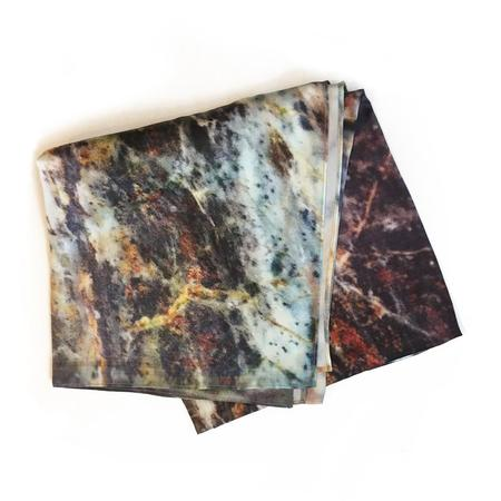 Slow and Steady Wins the Race Marble Print Scarf - Black
