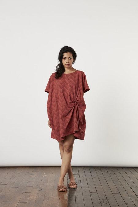 Tantuvi Knot Dress- Terra Ikat