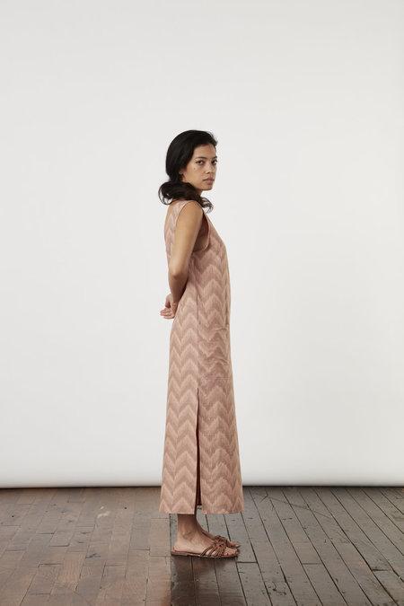 Tantuvi Split Tank Dress - Begonia Ikat