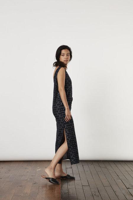 Tantuvi Split Tank Dress - Obsidian Ikat