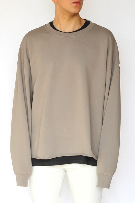 Commun des Mortels Concrete Oversized Raw-Edge Sweatshirt