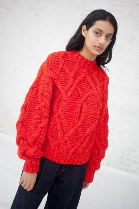 Ulla Johnson Pilar Pullover in Crimson