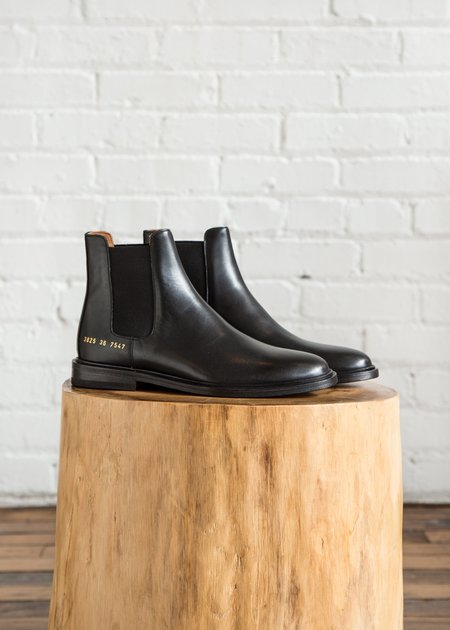 Woman by Common Projects Chelsea in Leather Black