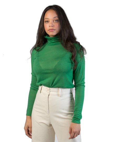 Just Female Green Violet Roll Neck