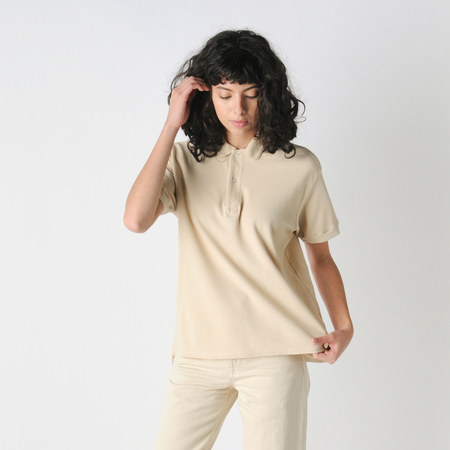 Older Brother Polo Shirt in Khaki Cafe