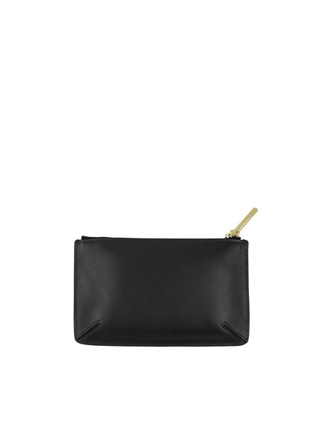 Flynn Minty Zipper Pouch - Black