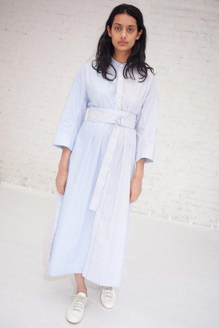 Tomorrowland Stripe Combo Dress in Blue Stripe