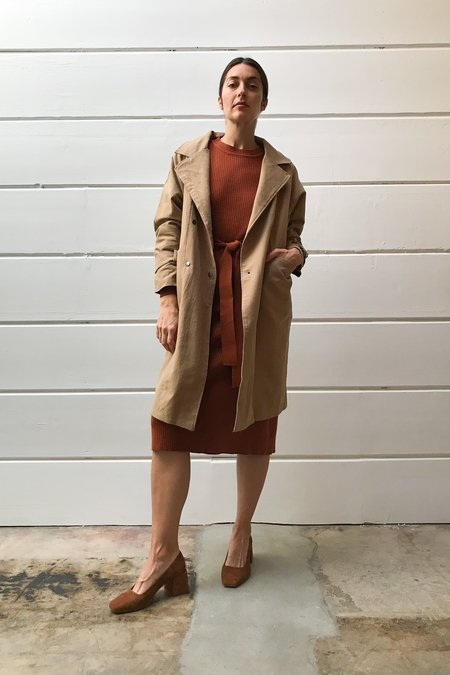 Mixed Business Tan Trench Coat