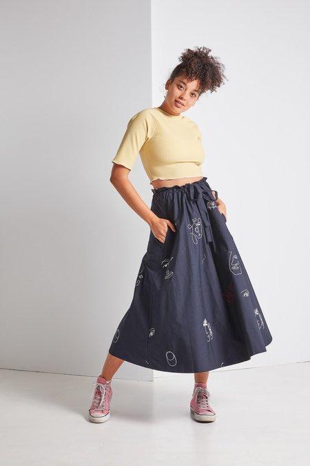 Mr. Larkin Kit Skirt in Ink + Embroidery