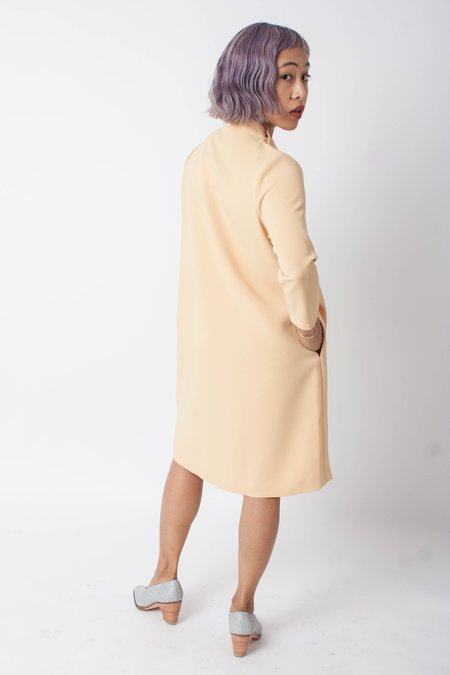KAAREM Pure 3/4 Mockneck Petite Dress - Yellow