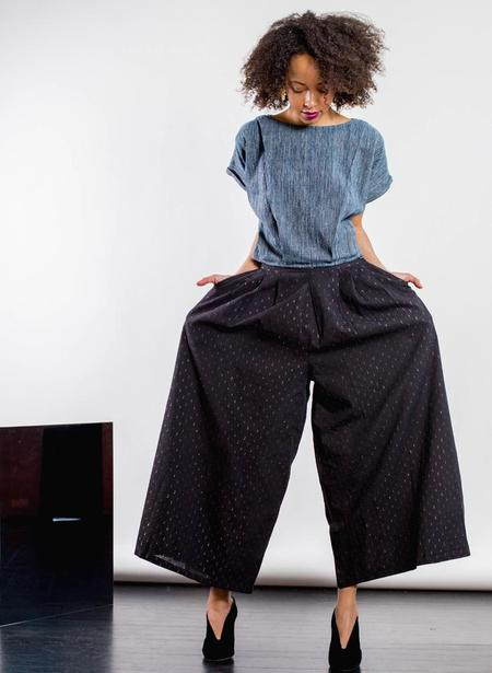 Seek Collective Savista Pant - Black Fliicker Weave
