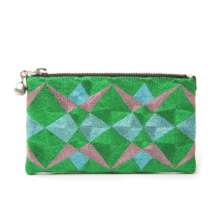 Anne Grand-Clément Green Matrix Extra Small Pouch