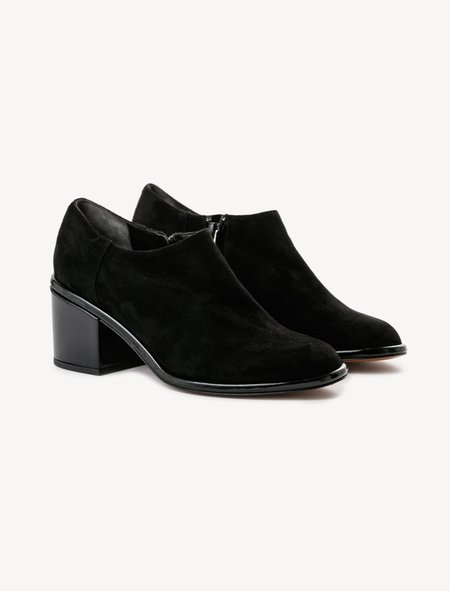 Robert Clergerie Mooty Suede/Patent Low Boots