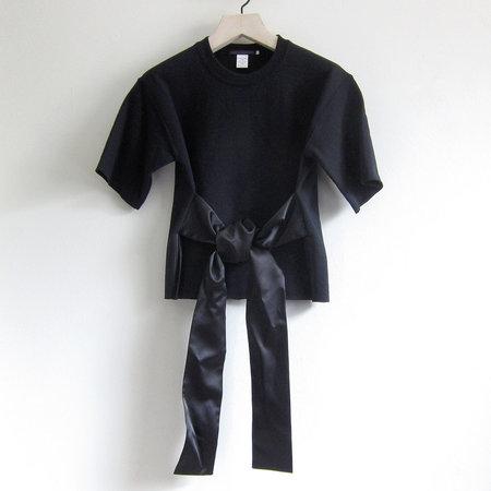 Harvey Faircloth Cut Off Sweatshirt With Tie - Black