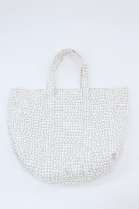 Beklina Lina Rennell Canvas Tote Bag - White Triangle