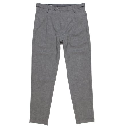 August Fifteenth Mambo Pant - Medium Grey Wool Twill