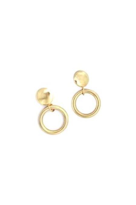 Young Frankk Drop Hoop Earrings - Gold Plated