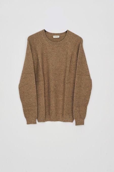 HESPERIOS Alpaca Faro Knit Sweater - Heather Beige Brown