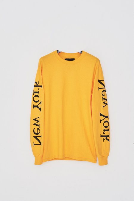 Assembly New York Cotton L/S New York Logo T-Shirt - Yellow