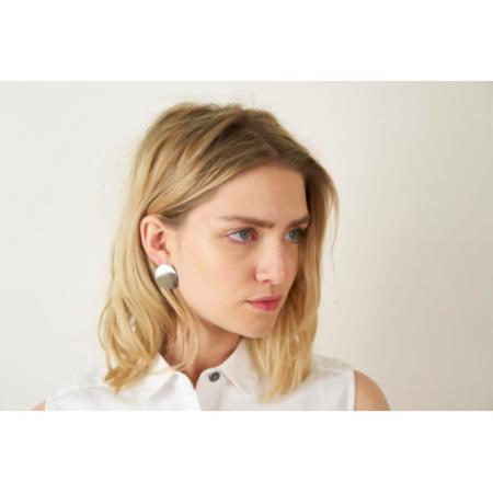 Maslo Jewelry Silver Circle Earrings